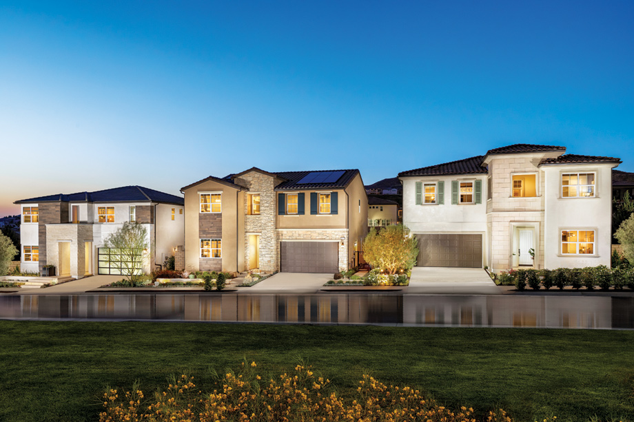 Toll Brothers home designs are clean and contemporary